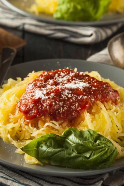 spaghetti squash with pasta sauce