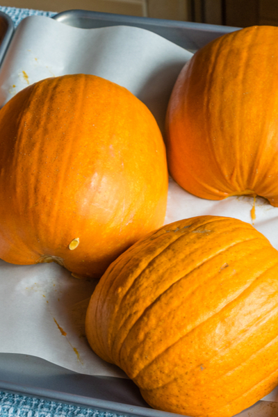 baked pumpkin puree
