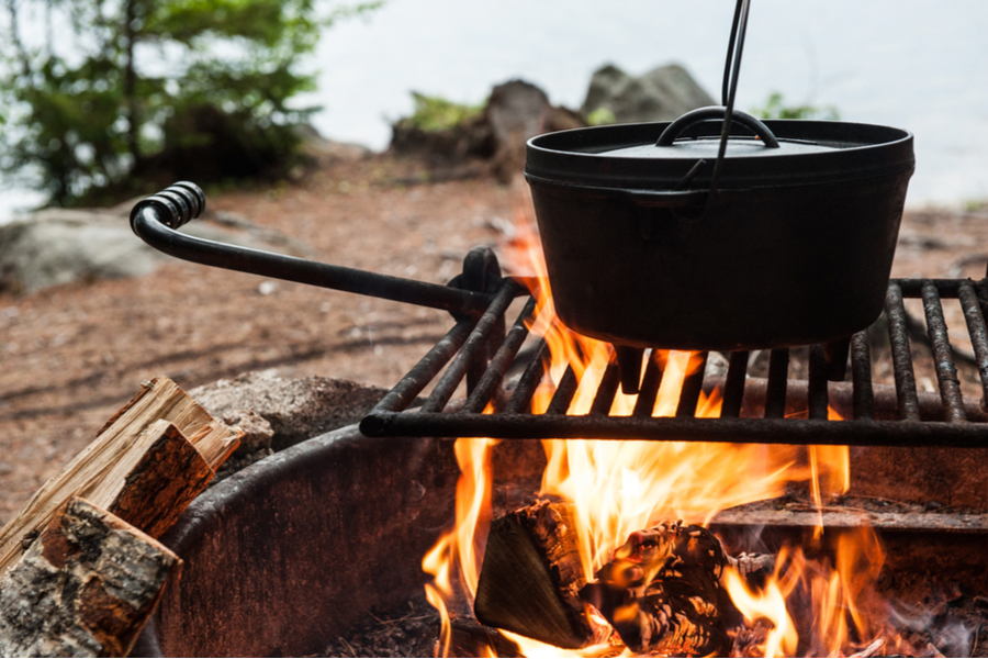 Being on the road means cooking your food in all kinds of new and exciting ways.