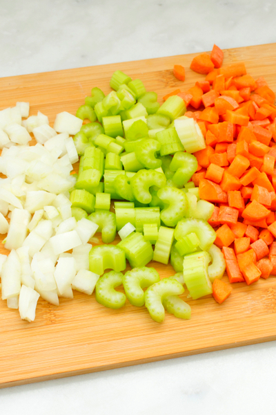 diced onion celery garlic