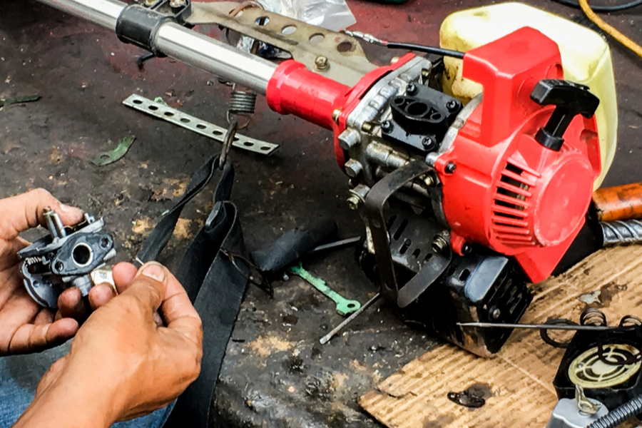 repairing a string trimmer