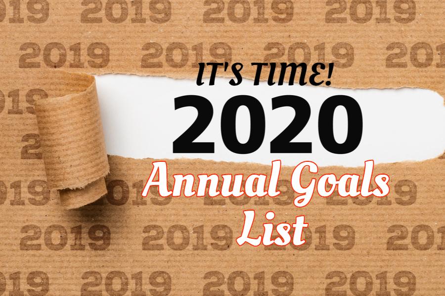 creating annual goal list