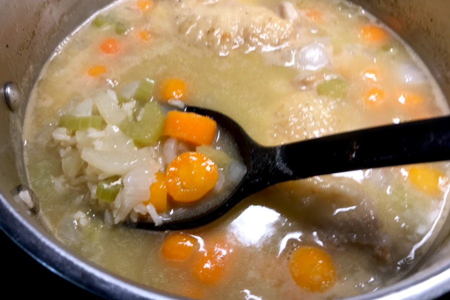broth and vegetables