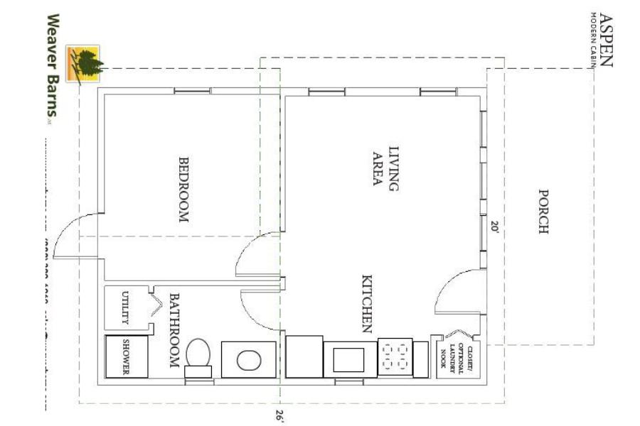 off-grid living space - Aspen Cabin
