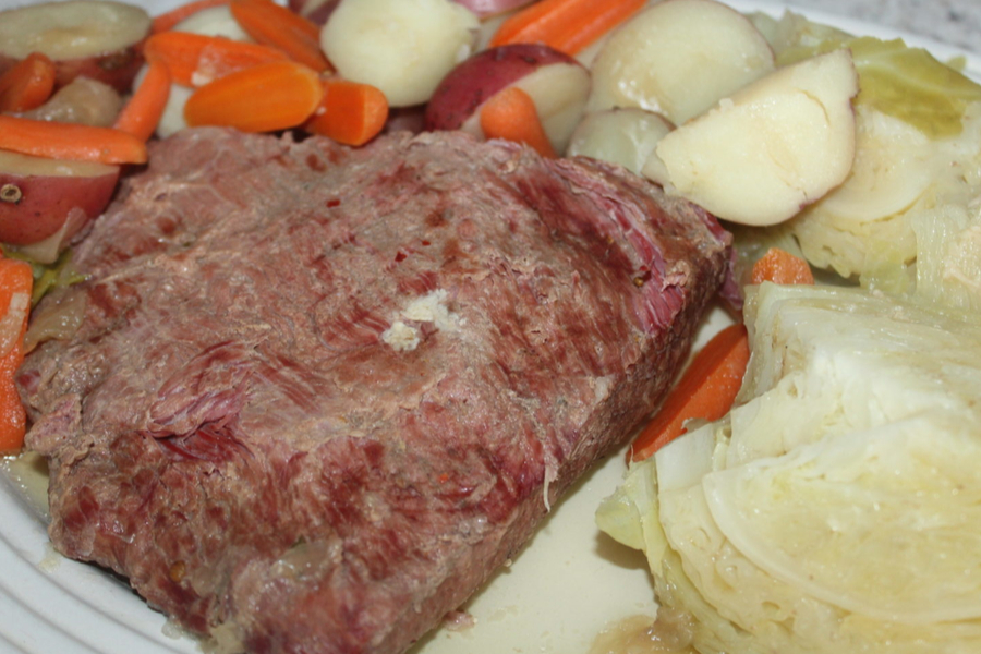 slow cooker corned beef dinner