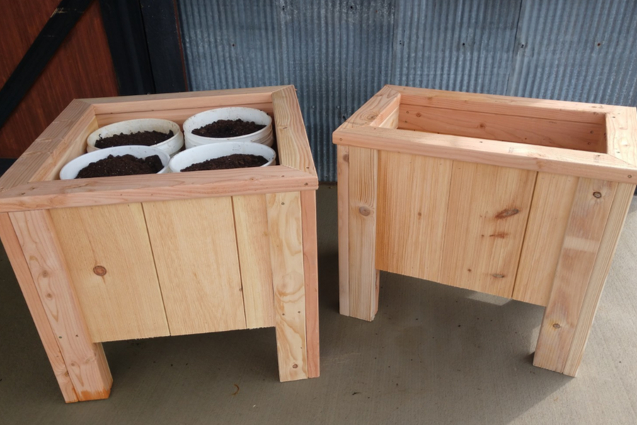 5 Gallon Bucket Planter Boxes