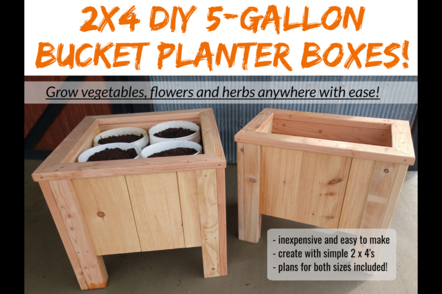 5 Gallon Bucket Planter Plans