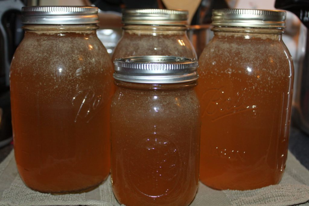canned homemade chicken stock