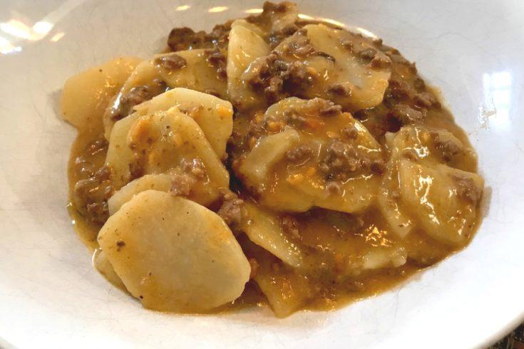 ground beef and potato casserole