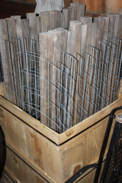 storing stake a cage