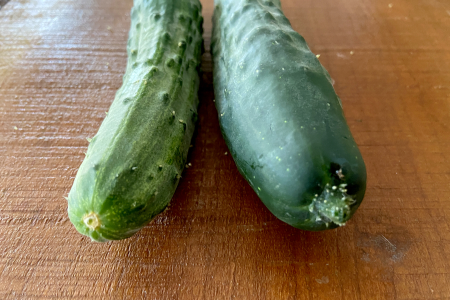 ends of cucumber
