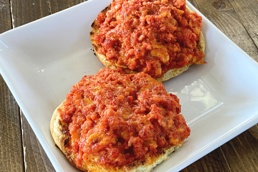 open face pizza burgers