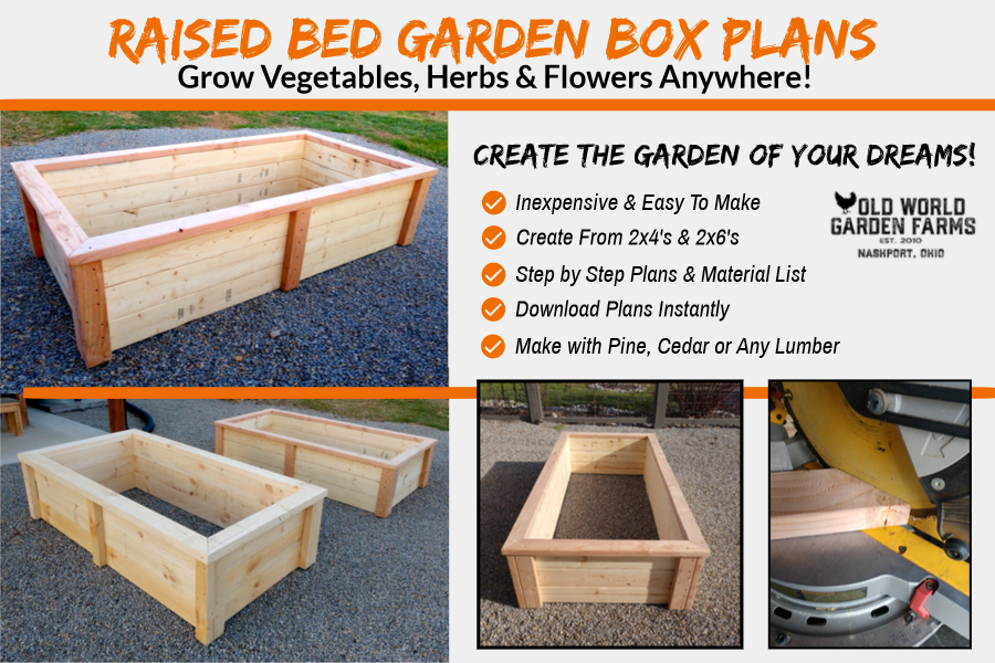 raised box bed planter