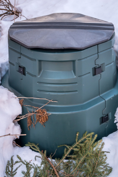 Winterkompostbehälter