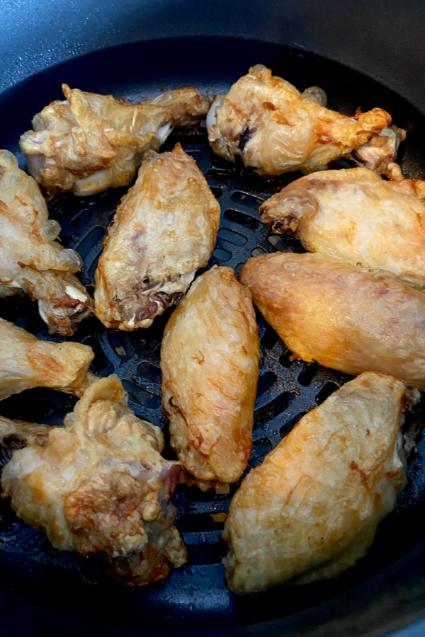 cooked air fryer wings
