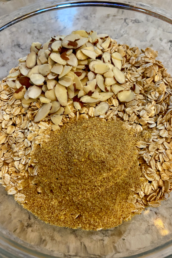 oatmeal, almonds and flax