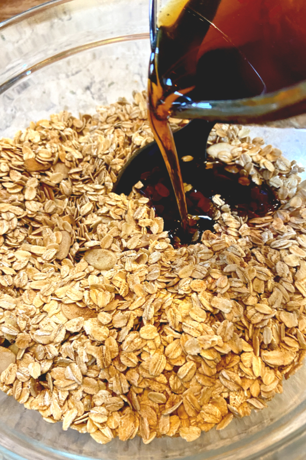 maple syrup in granola