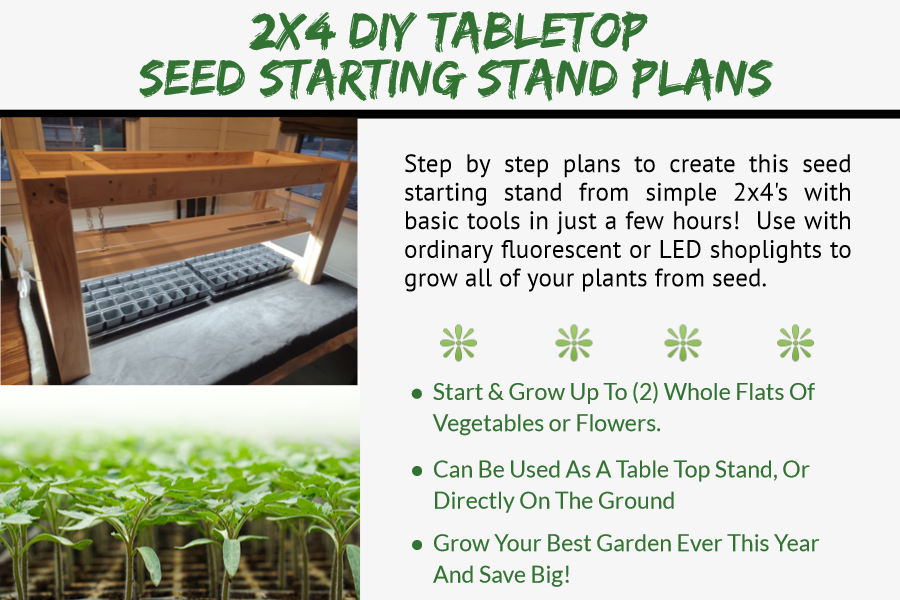 tabletop seed starting plans