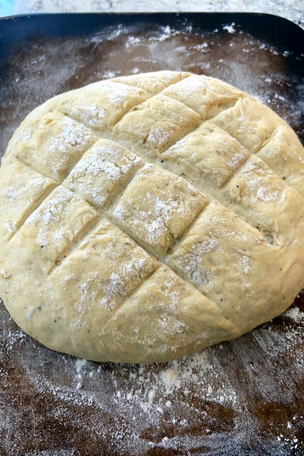 artisan bread ready to bake