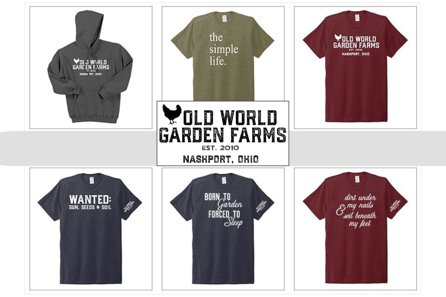 garden tee shirts