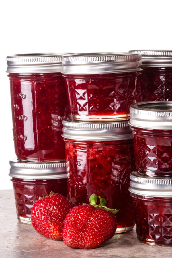 canning strawberry sugar free jam