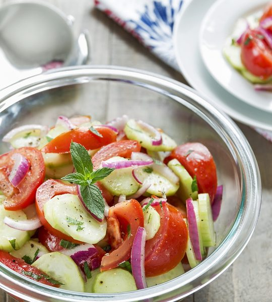 cucumber onion tomato salad