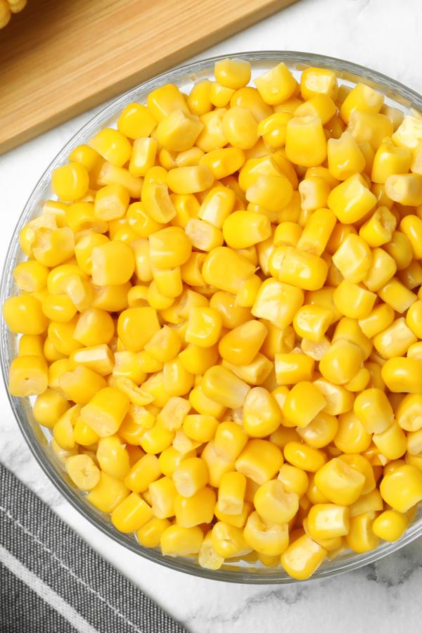 bowl of corn kernels