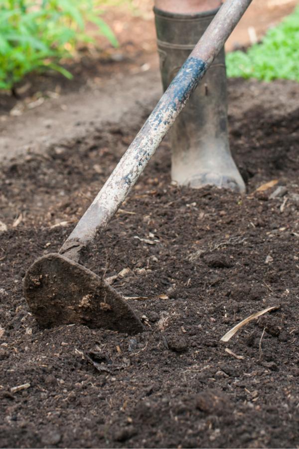 komposzt hozzáadása a kerthez