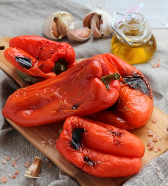 preserve roasted red peppers