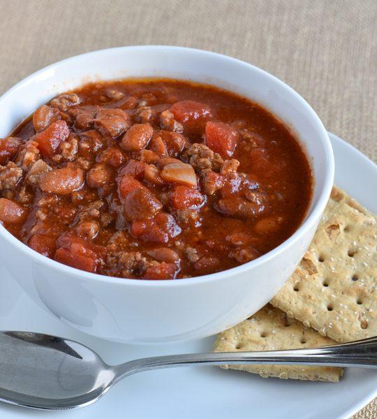 chili made with fresh tomatoes