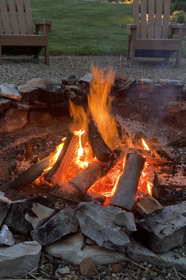 creating a fire pit
